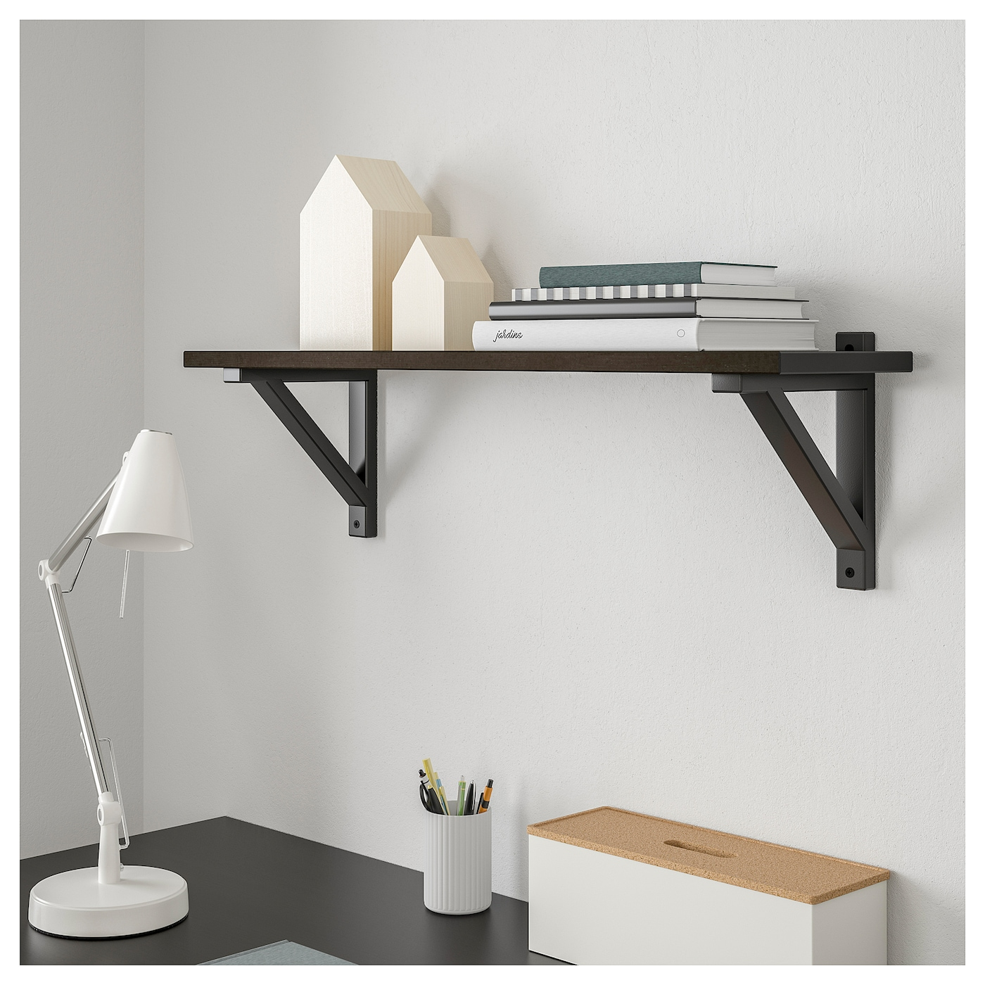 IKEA EKBY VALTER/EKBY HEMNES wall shelf Solid wood is a durable natural material.
