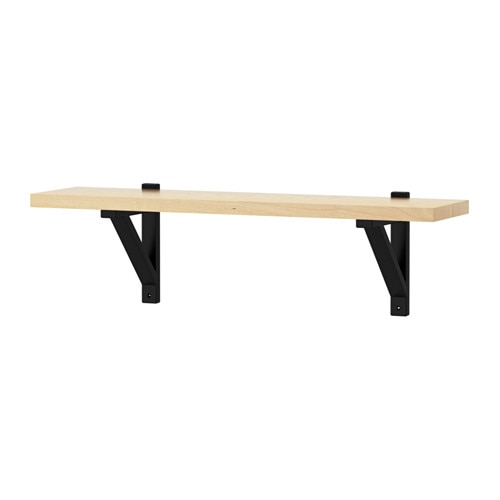 IKEA EKBY VALTER/EKBY JÄRPEN wall shelf Solid wood is a durable natural material.