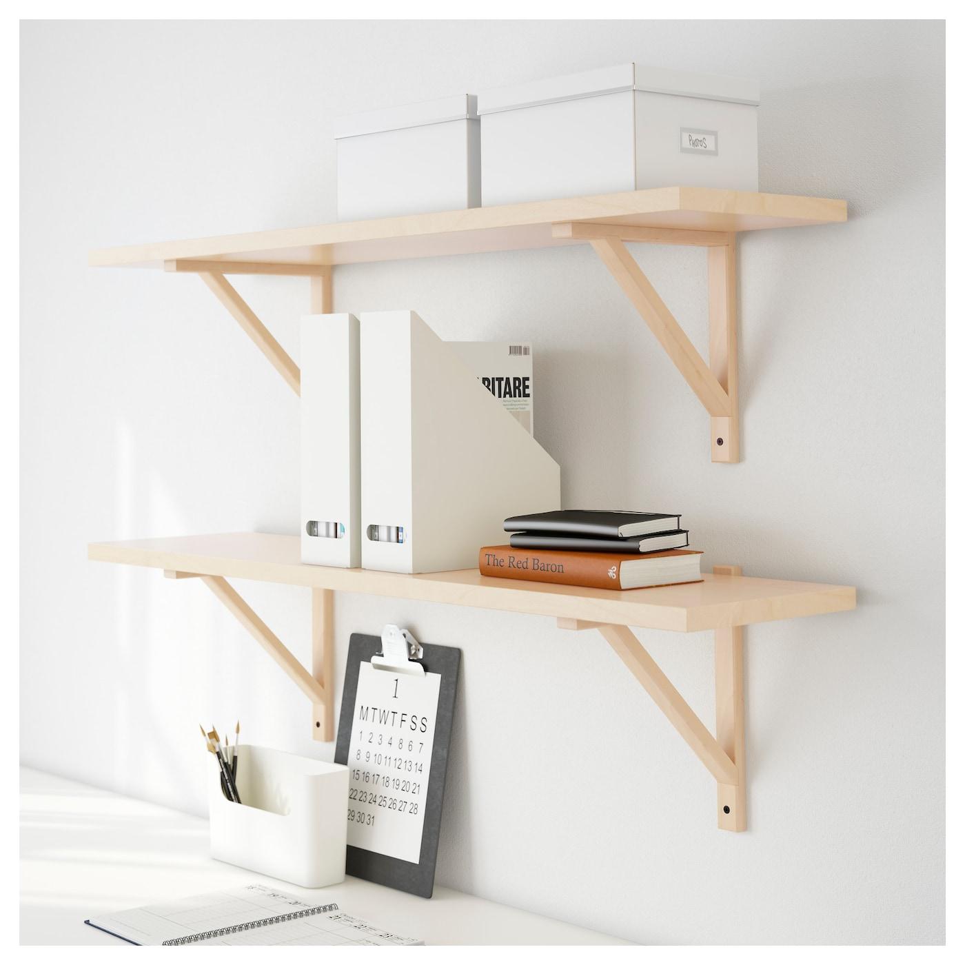 ekby valter ekby j rpen wall shelf birch veneer 119x28 cm ikea. Black Bedroom Furniture Sets. Home Design Ideas