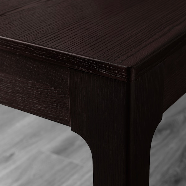 EKEDALEN / BERNHARD Table and 4 chairs, dark brown/Mjuk dark red, 120/180 cm