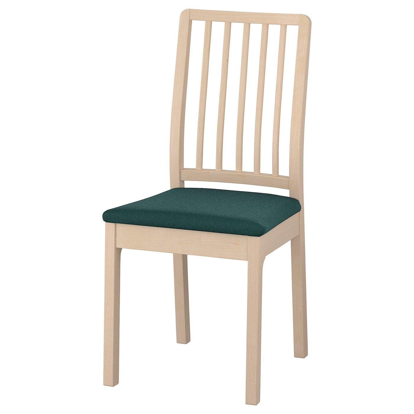 Ekedalen chair birch gunnared dark green ikea for Sedie in legno ikea