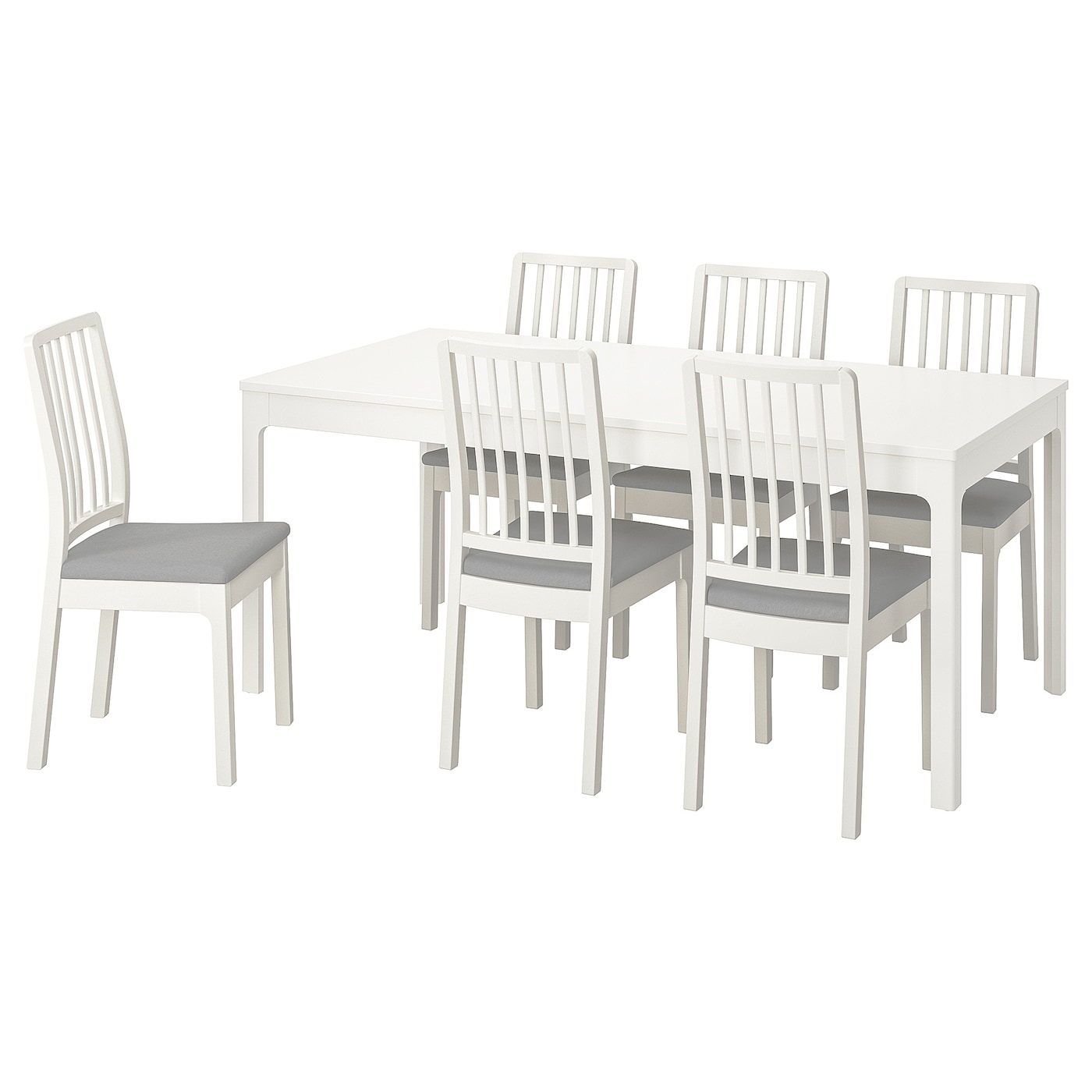 IKEA EKEDALEN/EKEDALEN table and 6 chairs