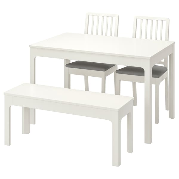 Ekedalen White Ramna Light Grey Table
