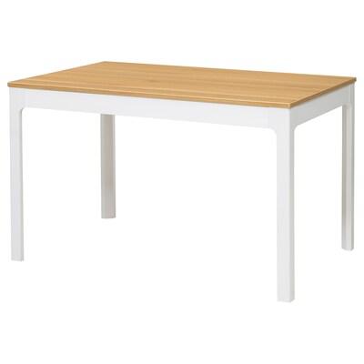 EKEDALEN Extendable table, oak veneer/white stained, 120/180x80 cm