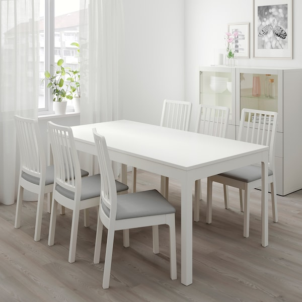 Ekedalen White Extendable Table Min