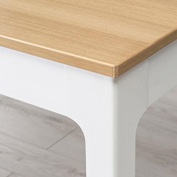 EKEDALEN extendable table oak veneer/white stained 80 cm 120 cm 70 cm 75 cm
