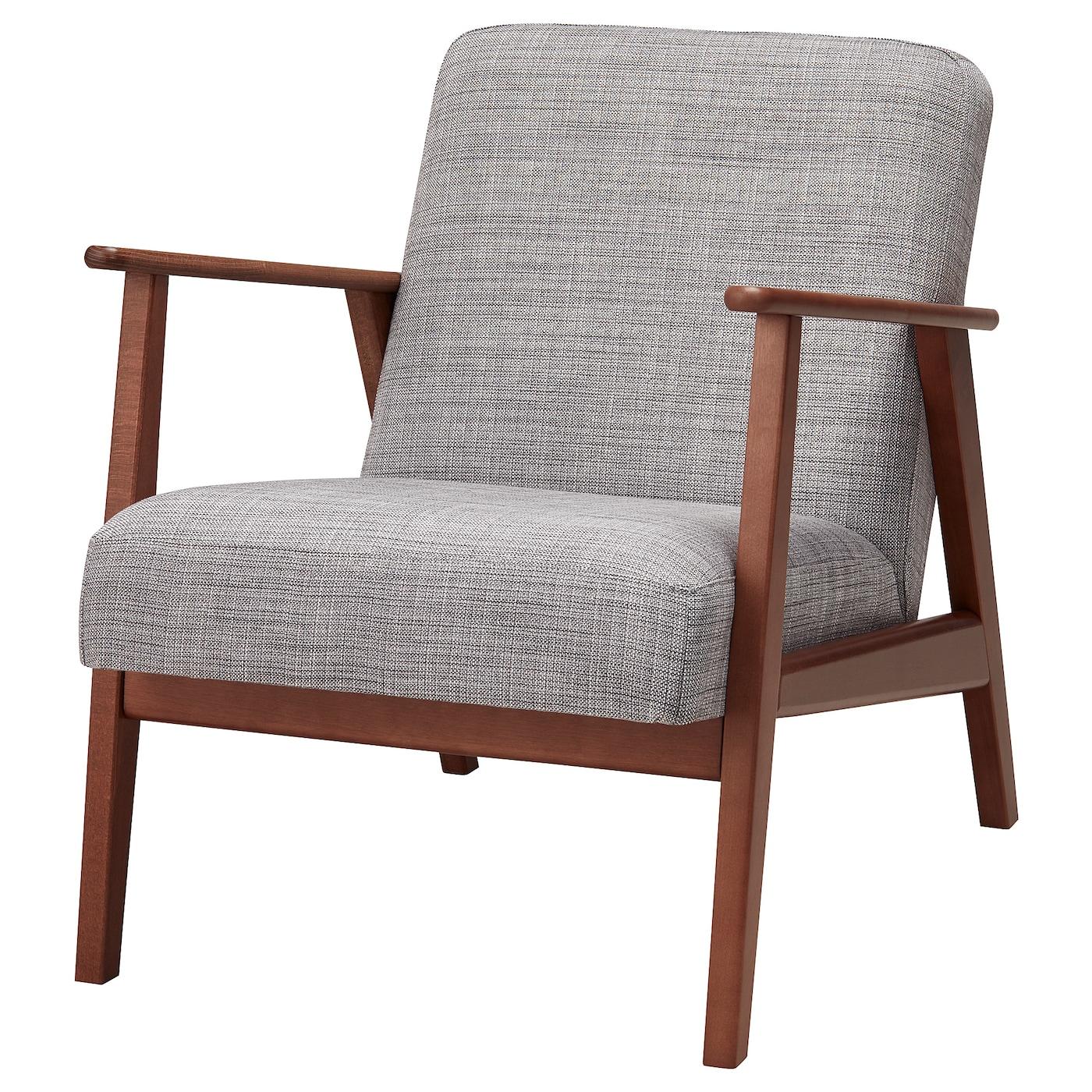 Eken 196 Set Armchair Isunda Grey Ikea