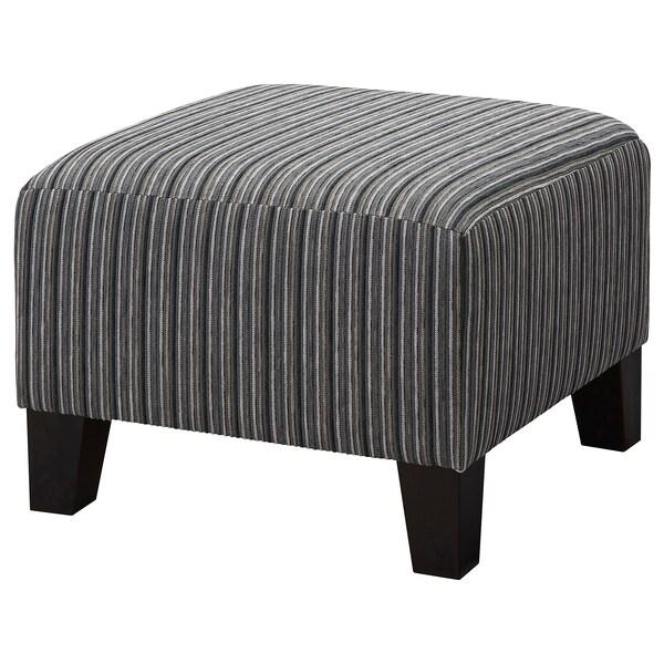 EKENÄS Footstool, stripe grey