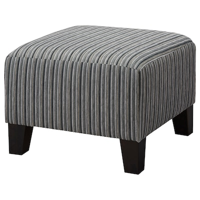 EKENÄS Footstool, stripe grey
