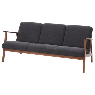 EKENÄSET 3-seat sofa Hillared anthracite 174 cm 73 cm 75 cm 28 cm 63 cm 160 cm 50 cm 42 cm