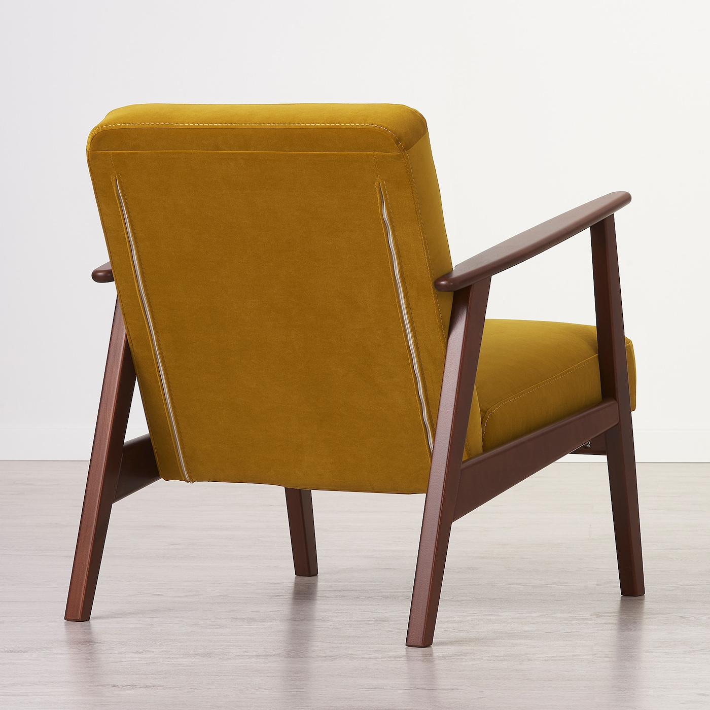 Picture of: Ekenaset Armchair Velvet Yellow Ikea