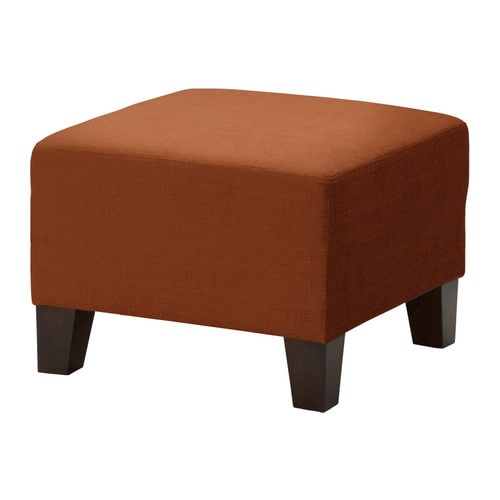 EKENÄS Footstool IKEA Hardwearing, slightly shiny chenille cover with a soft feel.
