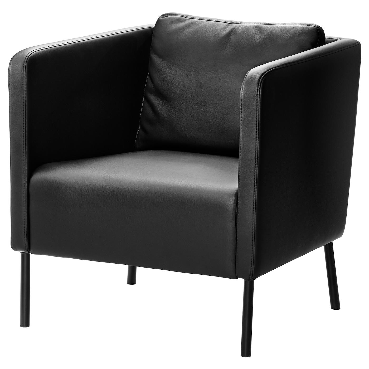 Eker 214 Armchair Kimstad Black Ikea