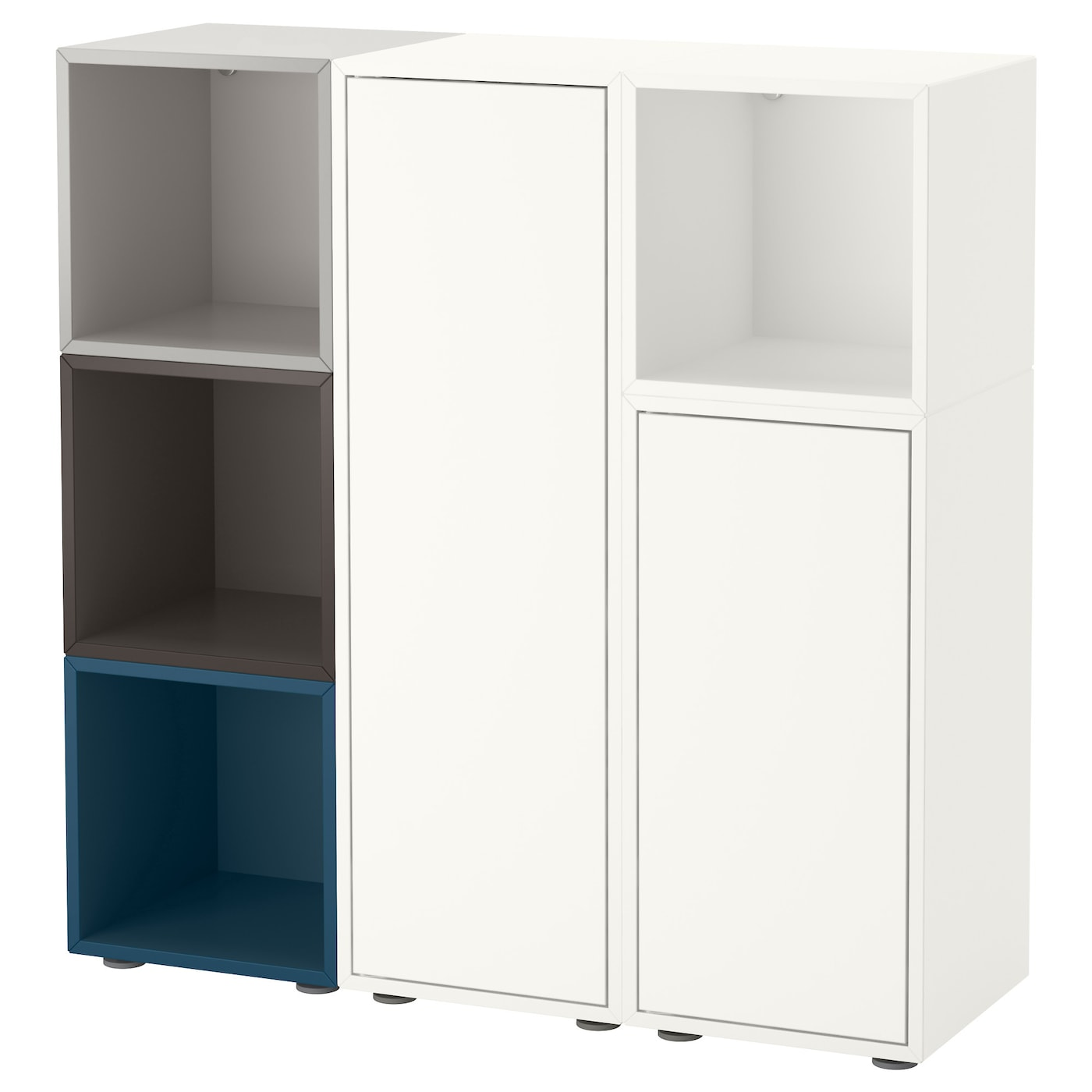 eket cabinet combination with feet multicolour 2 105 x 35 x 107 cm ikea. Black Bedroom Furniture Sets. Home Design Ideas