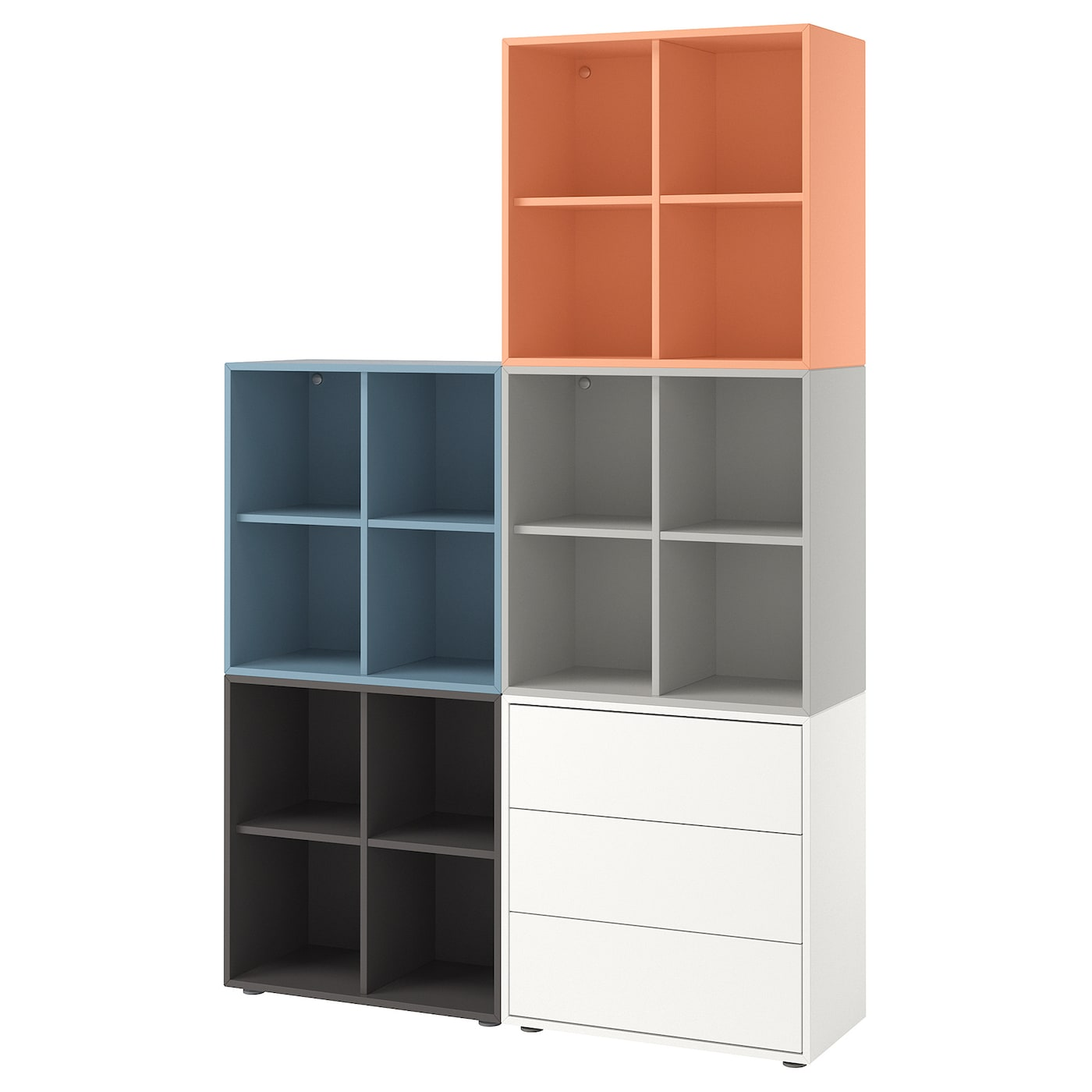 eket cabinet combination with feet multicolour 2 140 x 35 x 212 cm ikea. Black Bedroom Furniture Sets. Home Design Ideas