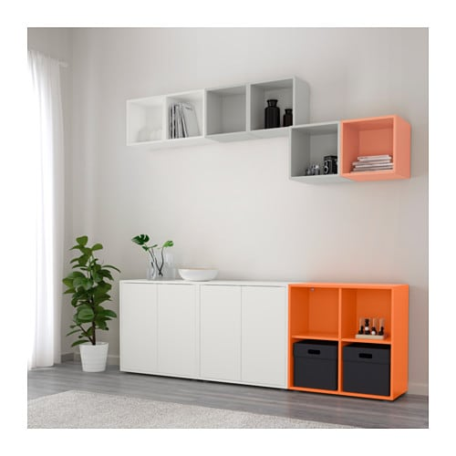 eket cabinet combination with feet multicolour 210x35x180 cm ikea. Black Bedroom Furniture Sets. Home Design Ideas