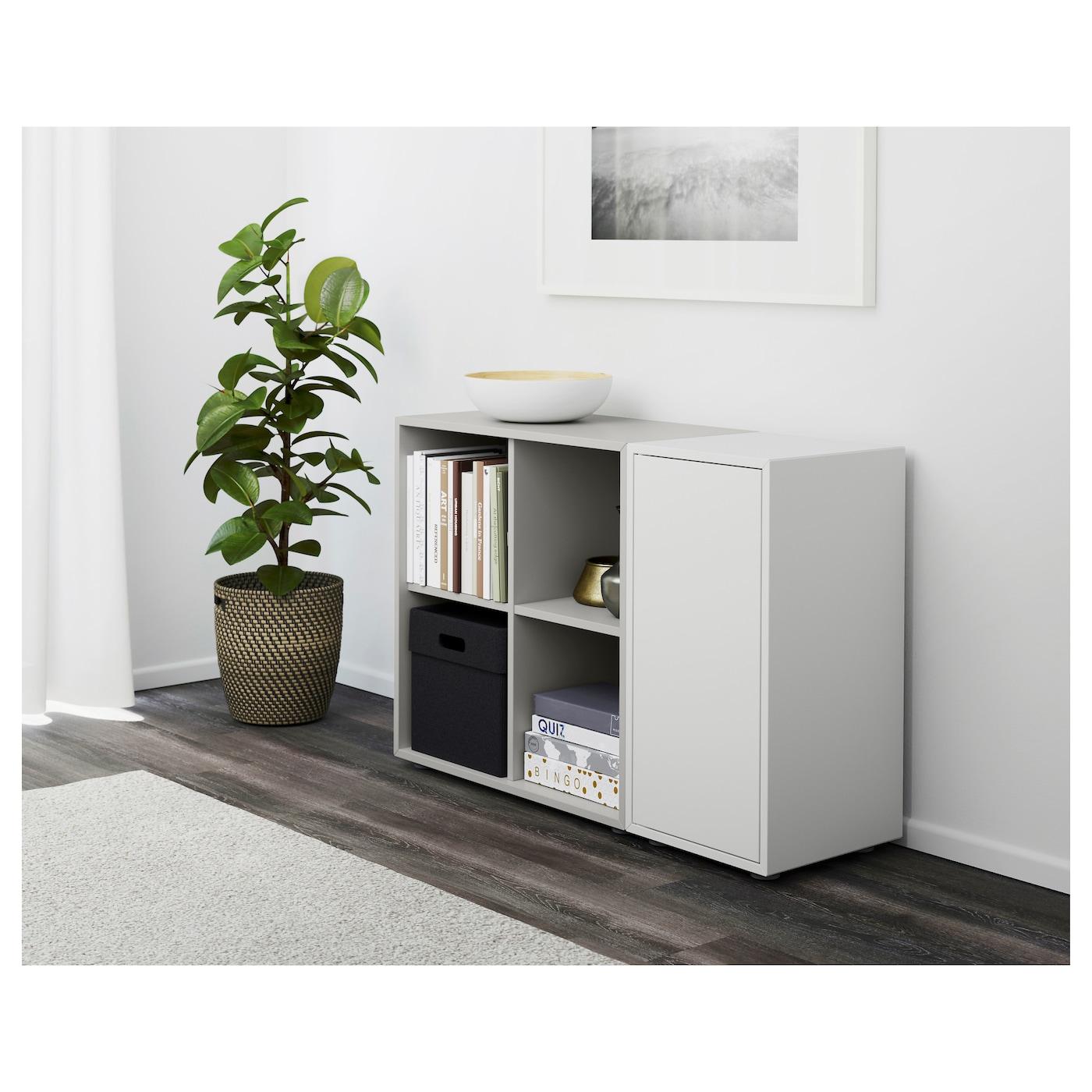 eket cabinet combination with feet white light grey 105 x 35 x 72 cm ikea. Black Bedroom Furniture Sets. Home Design Ideas