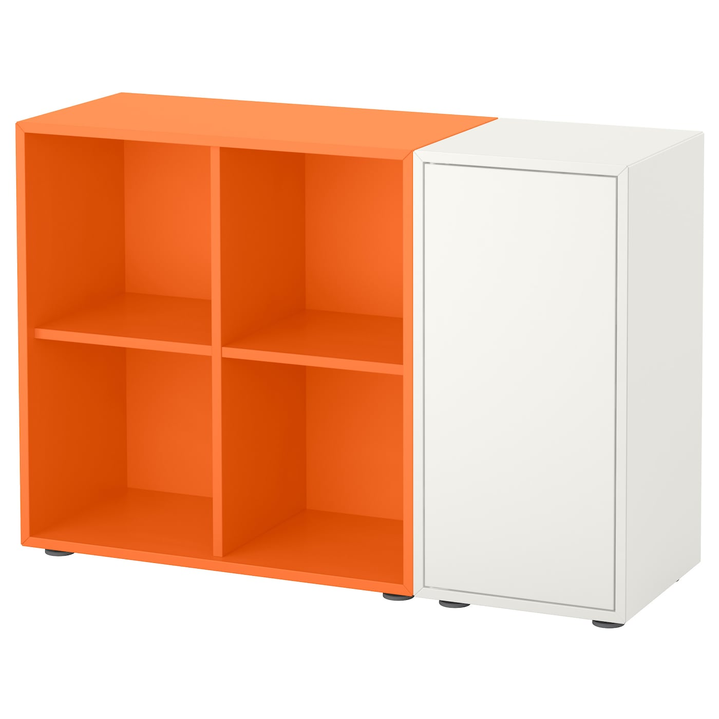 EKET Cabinet combination with feet Whiteorange 105x35x72