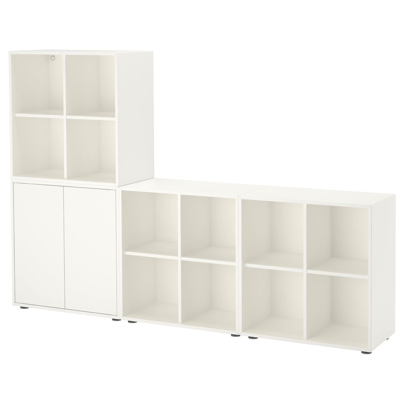 Eket Cabinet Combination With Feet White 210x35x142 Cm Ikea