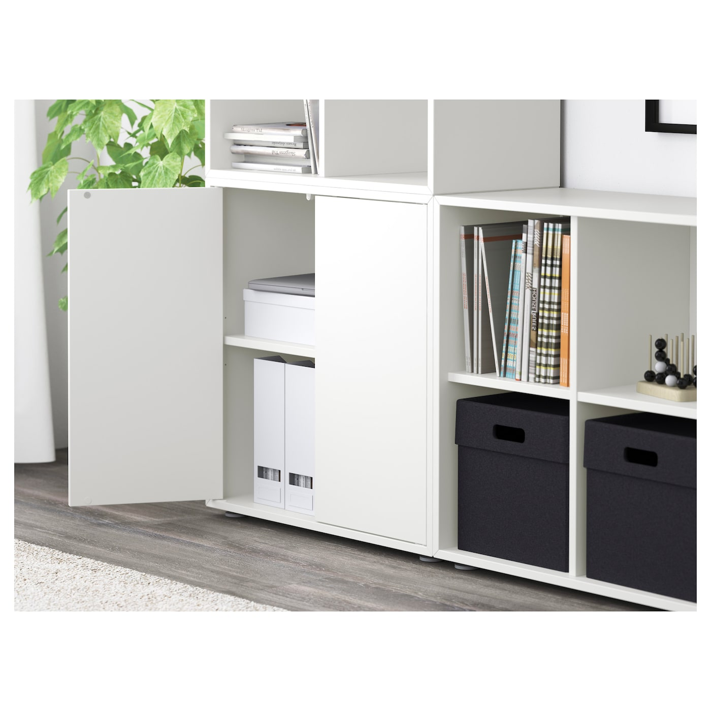 eket cabinet combination with feet white 210 x 35 x 142 cm ikea. Black Bedroom Furniture Sets. Home Design Ideas