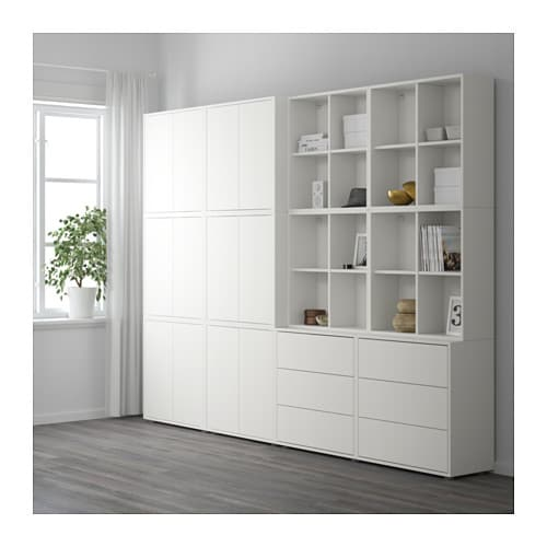 eket cabinet combination with feet white 280x35x212 cm ikea. Black Bedroom Furniture Sets. Home Design Ideas