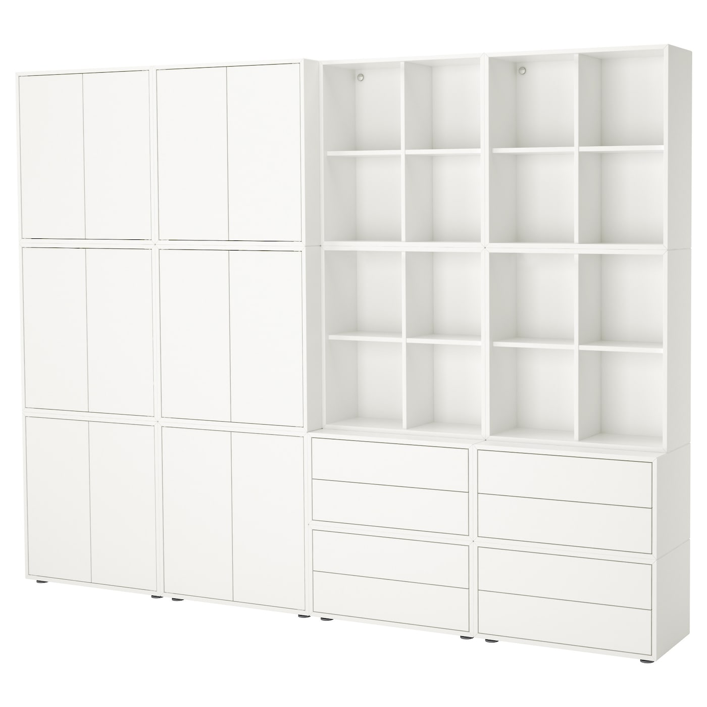 eket cabinet combination with feet white 280 x 35 x 212 cm ikea. Black Bedroom Furniture Sets. Home Design Ideas