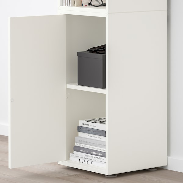 EKET Cabinet combination with feet, white, 35x35x107 cm