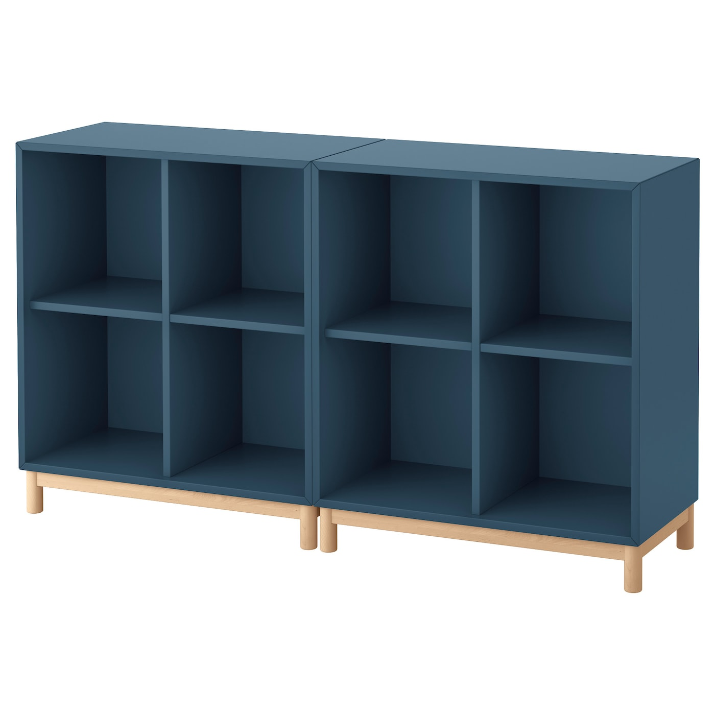 eket cabinet combination with legs dark blue 140x35x80 cm. Black Bedroom Furniture Sets. Home Design Ideas