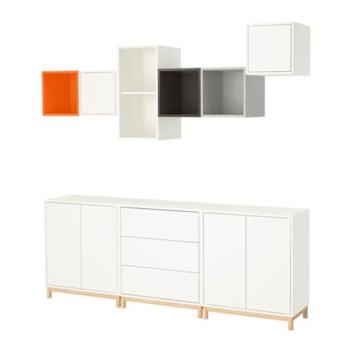 EKET Cabinet Combination With Legs Multicolour 210x35x210 Cm IKEA