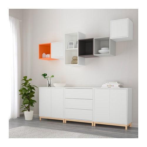 eket cabinet combination with legs multicolour 210x35x210 cm ikea. Black Bedroom Furniture Sets. Home Design Ideas