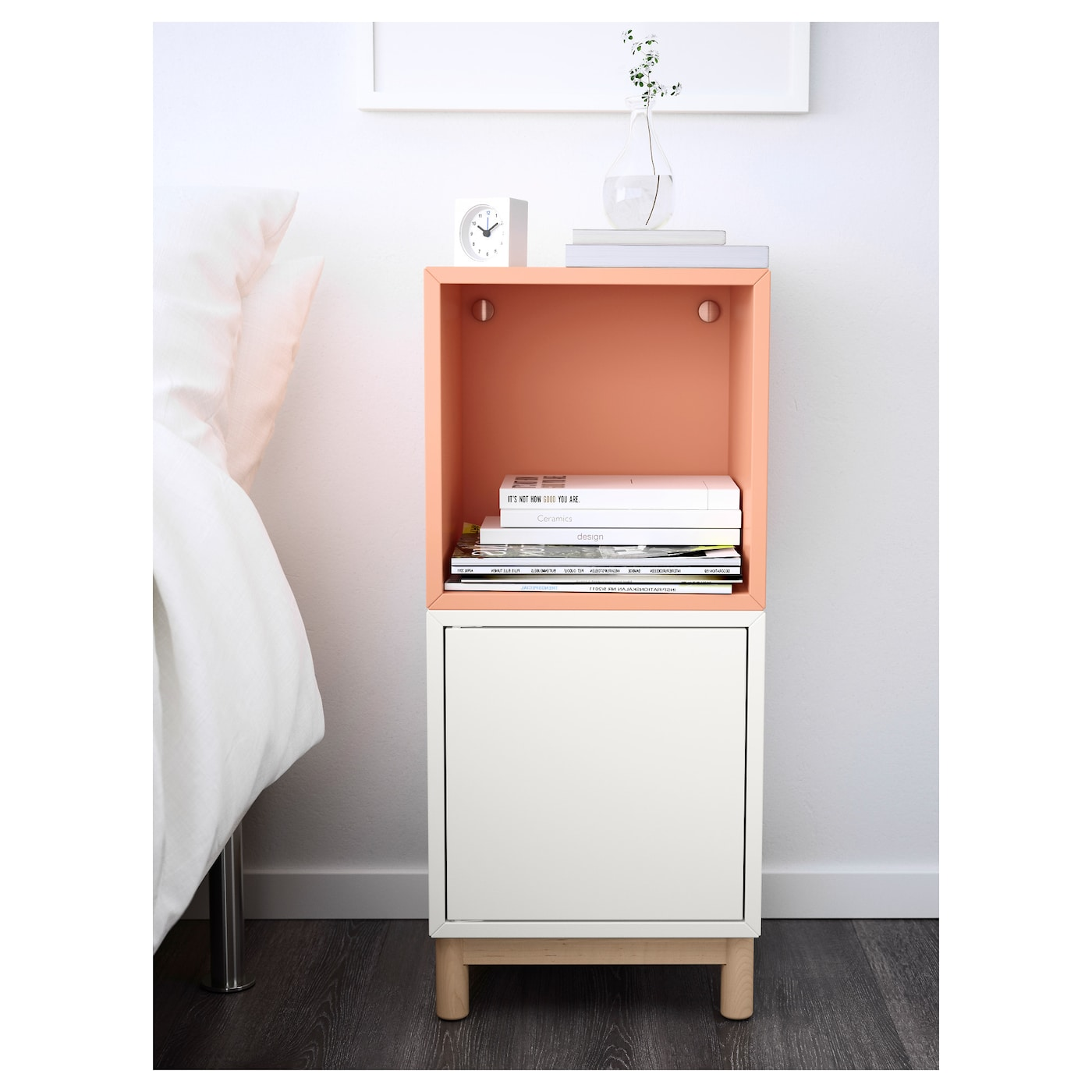 Eket Cabinet Combination With Legs White Light Orange