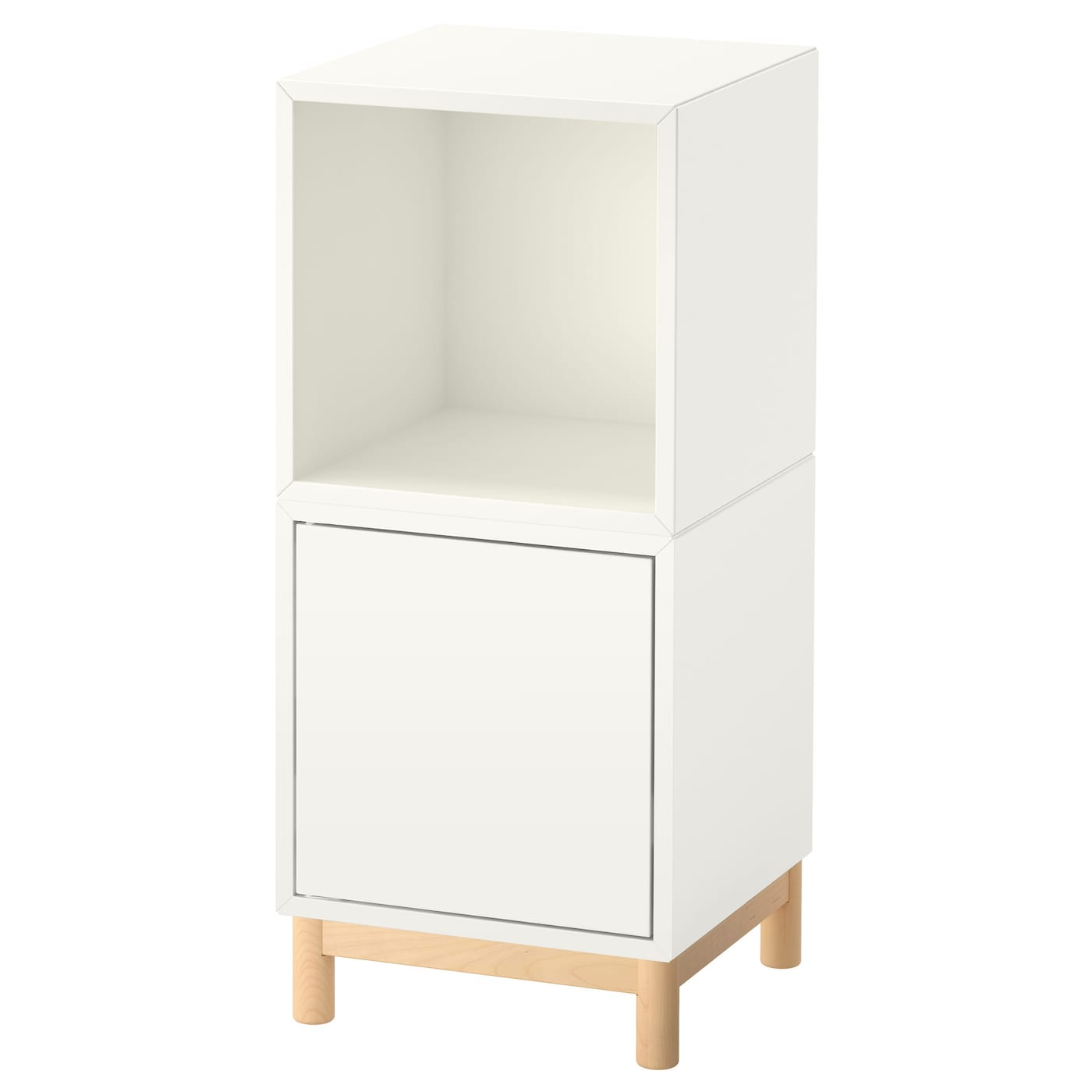 eket cabinet combination with legs white 35 x 35 x 80 cm. Black Bedroom Furniture Sets. Home Design Ideas
