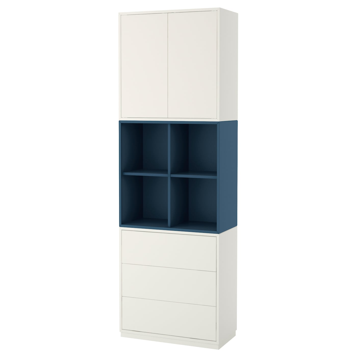 eket cabinet combination with plinth white dark blue 70 x 35 x 213 cm ikea. Black Bedroom Furniture Sets. Home Design Ideas