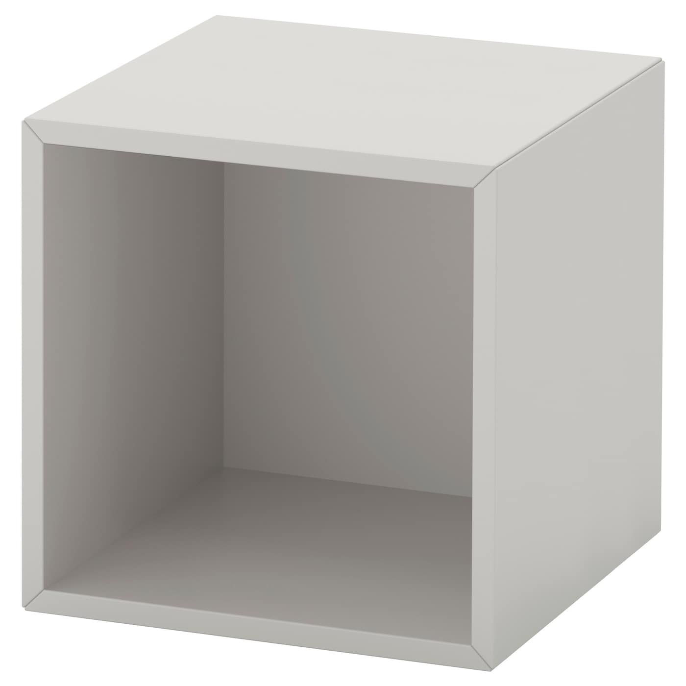 Eket cabinet light grey 35x35x35 cm ikea - Etagere murale casier ...