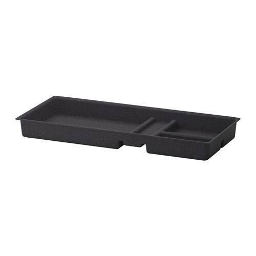 IKEA EKET drawer insert Soft felt protects your things and keeps them neatly in place.