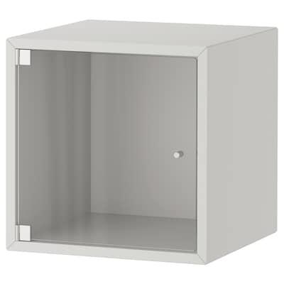 EKET wall cabinet with glass door light grey 35 cm 35 cm 35 cm