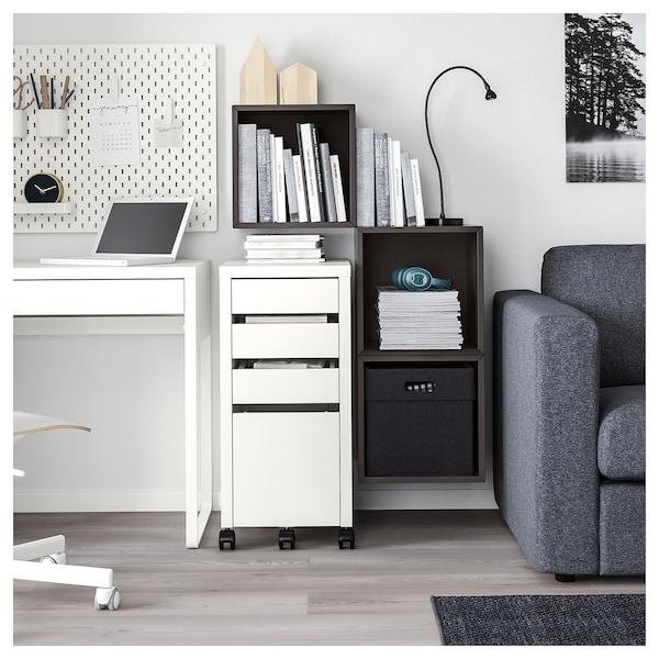 EKET Wall-mounted cabinet combination, dark grey, 105x35x70 cm
