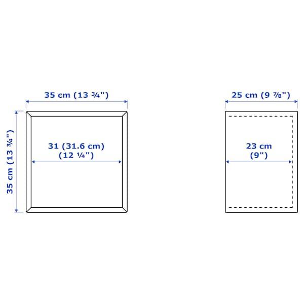 EKET Wall-mounted cabinet combination, golden-brown/dark grey, 105x35x70 cm