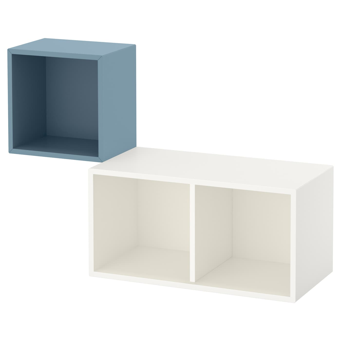 Eket wall mounted cabinet combination light blue white for Cube rangement mural ikea