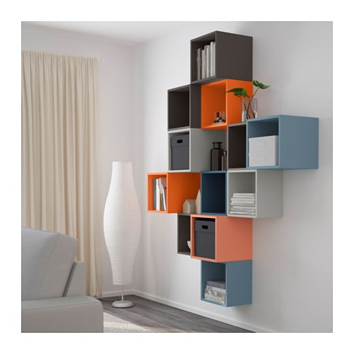eket wall mounted cabinet combination multicolour. Black Bedroom Furniture Sets. Home Design Ideas