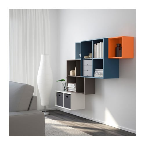 eket wall mounted cabinet combination multicolour 210x35x140 cm ikea. Black Bedroom Furniture Sets. Home Design Ideas