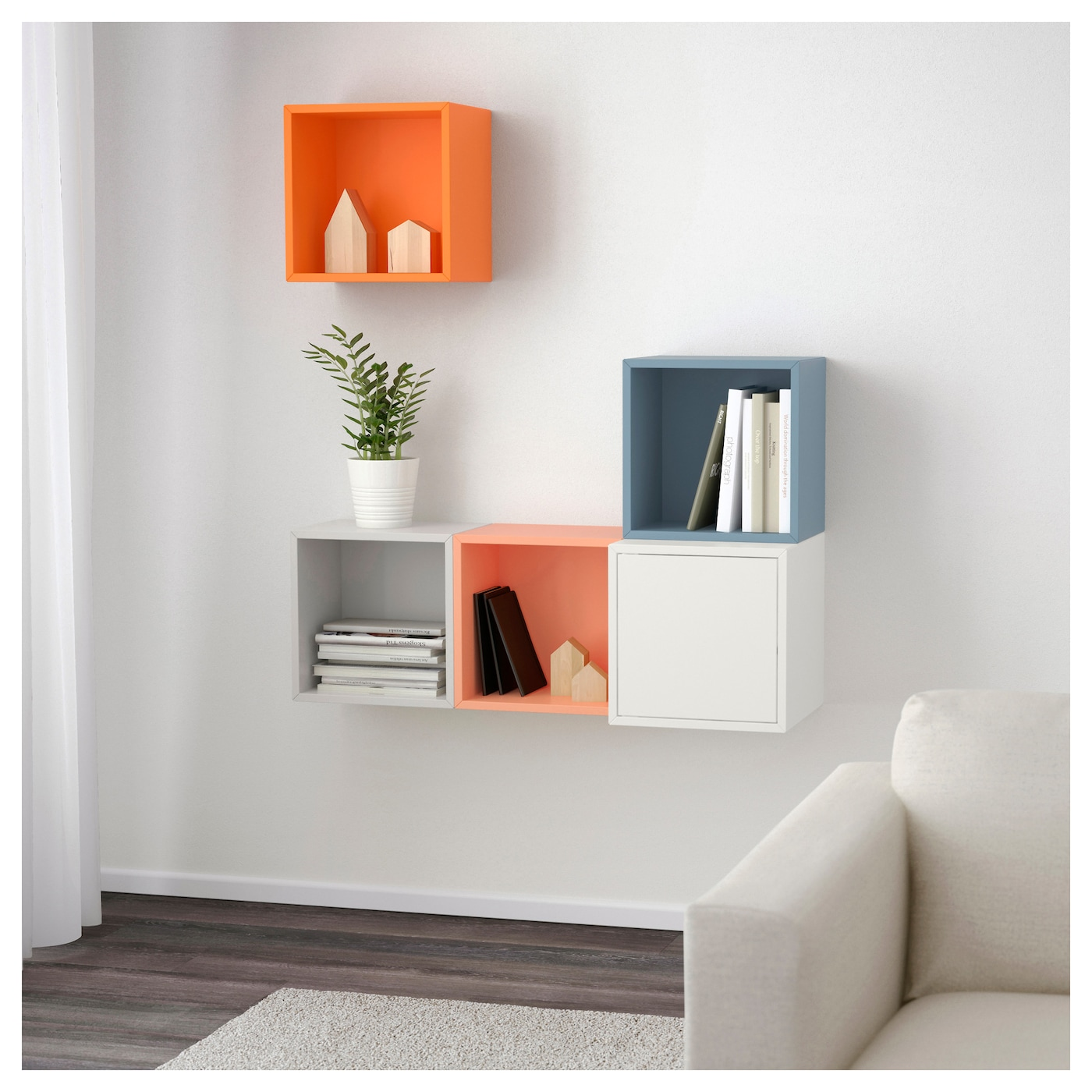 Eket Wall Mounted Cabinet Combination Multicolour 105 X 35