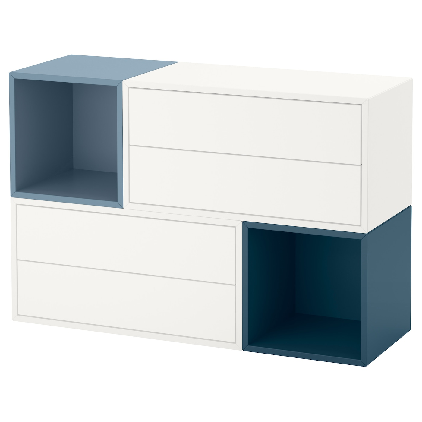 eket wall mounted cabinet combination white light blue dark blue 105 x 35 x 70 cm ikea. Black Bedroom Furniture Sets. Home Design Ideas