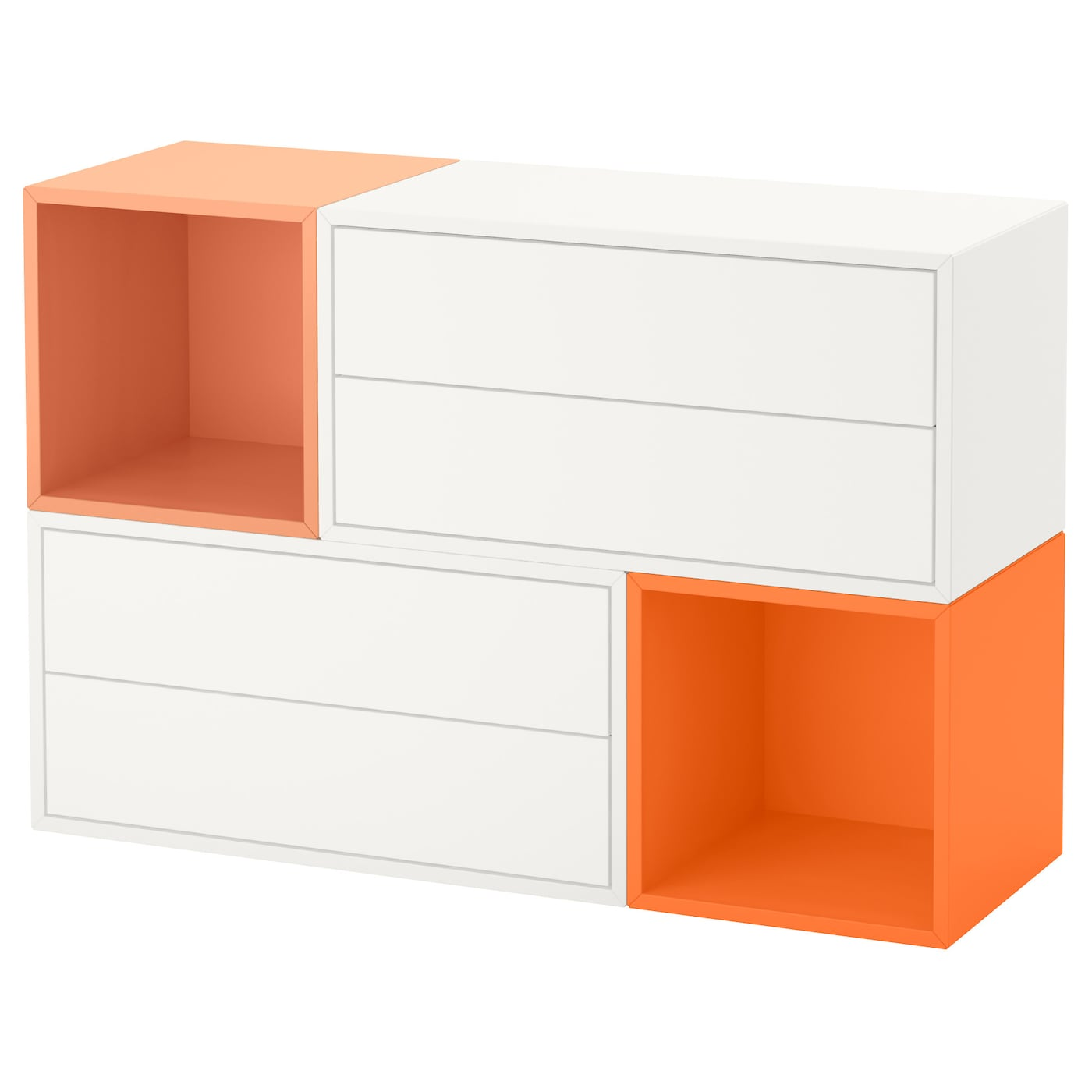 eket wall mounted cabinet combination white orange light. Black Bedroom Furniture Sets. Home Design Ideas