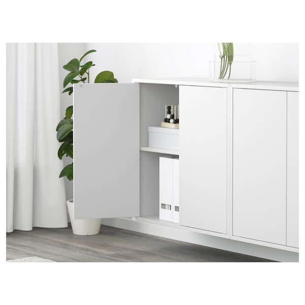 EKET Wall-mounted cabinet combination, white, 175x25x70 cm