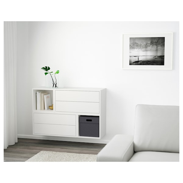 EKET Wall-mounted cabinet combination, white, 105x35x70 cm