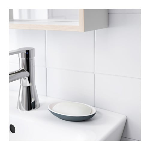 Ekoln soap dish dark grey ikea for Dark grey bathroom accessories
