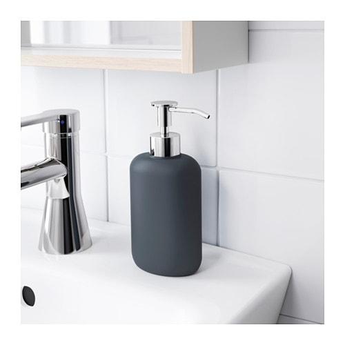 Ekoln soap dispenser dark grey ikea for Dispenser sapone ikea