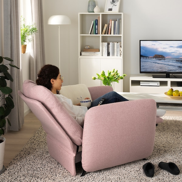 EKOLSUND Gunnared light brown pink, Recliner IKEA