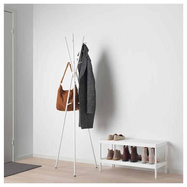 EKRAR Hat and coat stand, white, 169 cm